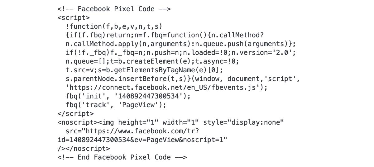 Facebook - Il pixel