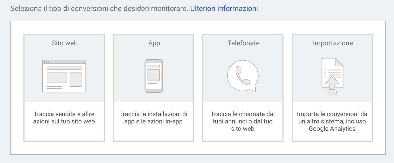 Google Ads - Le conversioni